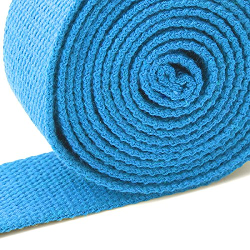 IMELI w/ Adjustable Advanced Yoga Strap (6ft, 8ft) D-Ring Buckle for Stretching, Flexibility, Thickening, Yoga & Pilates (blue, 8ft)