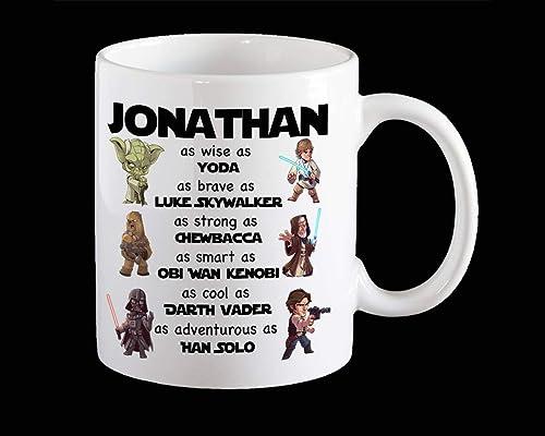 Amazon.com: Personalised Funny Star Wars Mug, Next Jedi Star ...