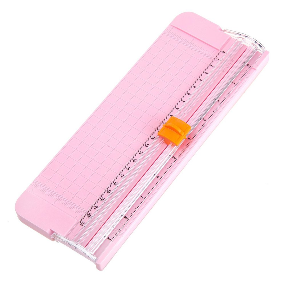 Mini Size - 9 inch Precision Rotary Paper Trimmers Ruler Photo Paper Cutter Guillotine for Home School Office (Blue) Diconna
