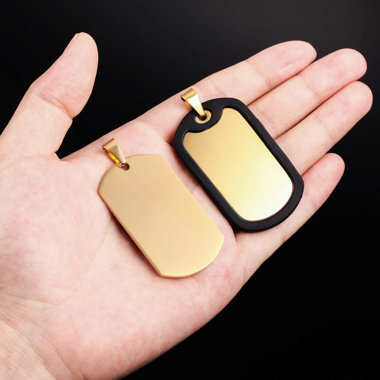 5 Colori Catena Confezione con 3 Articoli: Portachiavi MeMeDIY Catenina per Ciondolo Collana Personalizzata con Nome Personalizzato per Incisione per Uomo Donna Acciaio Inossidabile Silenziatore