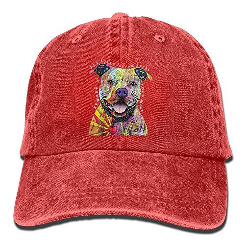 Qbeir Cool Pitbull Adjustable Adult Cowboy Denim Hat Sunscreen Fishing Outdoors Retro Visor - Coupon Frames Cool