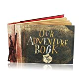 #2: Our Adventure Book Travel Scrapbook Photo Album Pixar Up Handmade DIY Retro Book for Craft Paper Father's Day Gifts, Valentines Day Gifts, Wedding Guest Book, DIY Anniversary Memory by FunSponsor