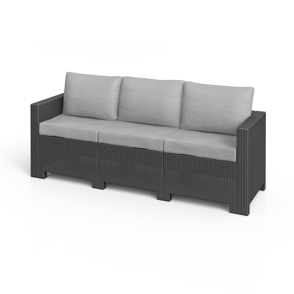 Amazon.de: BICA Colorado 3-Sitzer Couch Poly Rattan Gartenmöbel ...