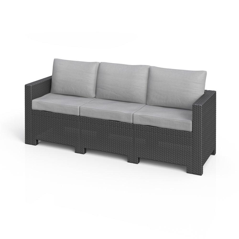BICA Colorado 3-Sitzer Couch Poly Rattan Gartenmöbel Lounge ...