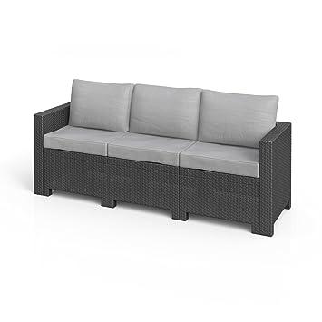 Rattan gartenmöbel sofa  Amazon.de: BICA Colorado 3-Sitzer Couch Poly Rattan Gartenmöbel ...