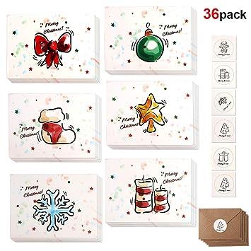Howaf Weihnachtskarten 36er Set Weihnachtskarten Grusskarten
