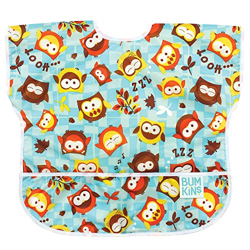 Price comparison product image Bumkins Baby Toddler Bib,  Waterproof Junior Bib,  Owls (1-3 Years)