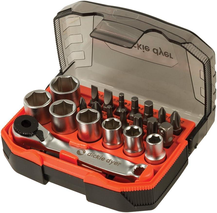 Stanley 1-13-906 STA113906 Bit and Socket Set of 39 /& Ratchet Metric 1//4 Drive