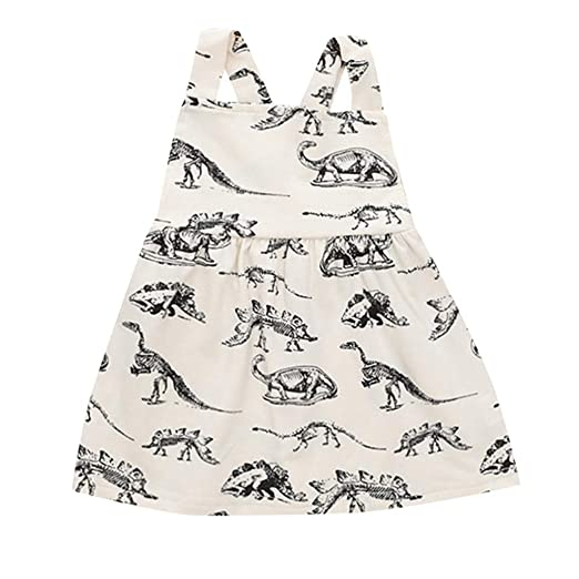 f03fd4fe4f94 Image Unavailable. Image not available for. Color  Baby Dresses Yamally Baby  Girls Clothes Cotton Dinosaur Tunic Casual Beach Dress Sundress Tops