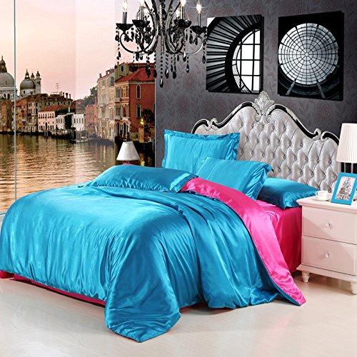 48*74cm Silky Pillow Cover Comfortable Pillowcase Blue - 1