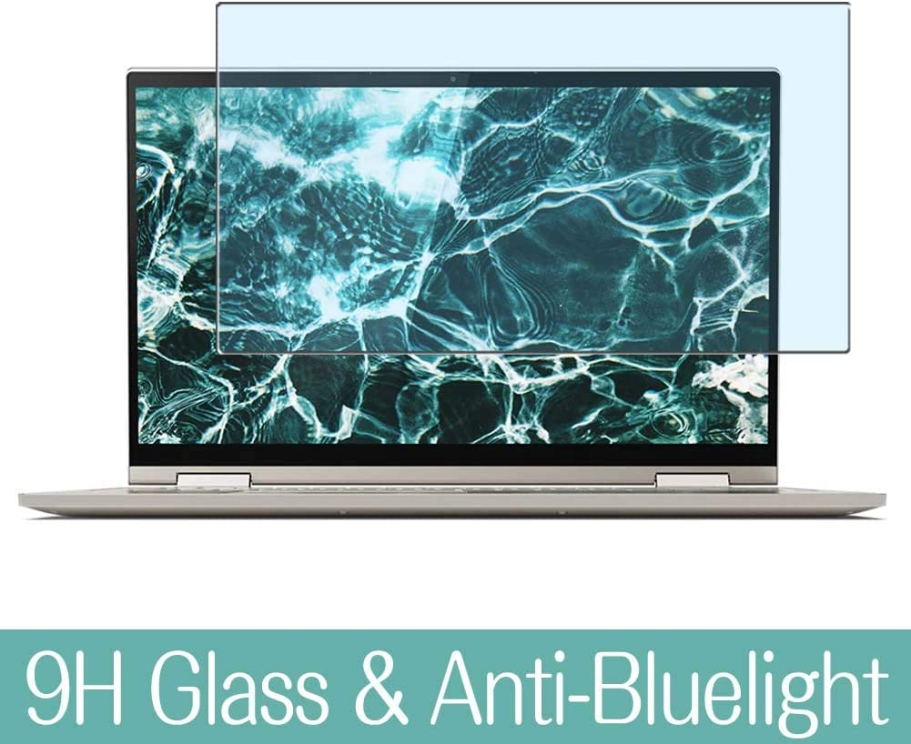 "Synvy Anti Blue Light Tempered Glass Screen Protector for Lenovo Yoga C740 14"" Visible Area 9H Protective Screen Film Protectors"