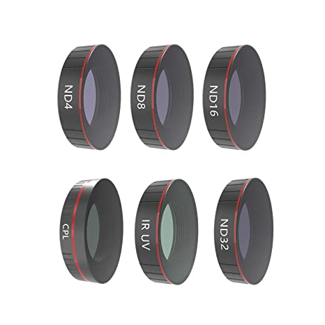 Amazon com: TOPGEE 6PC UV+CPL+ND4+ND8+ND16+ ND32 Camera Lens