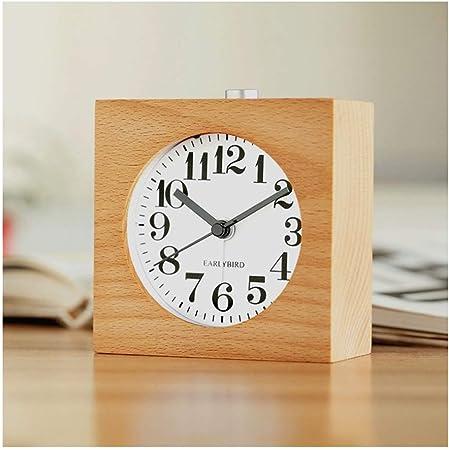 JBP max Reloj de jardín Soporte Reloj Simple Personalidad Reloj Dormitorio silencioso Reloj de madera-JBP50: Amazon.es: Hogar