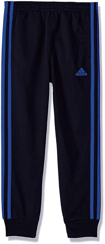 adidas Boys' Jogger Pant (2T, Black/Blue 006)