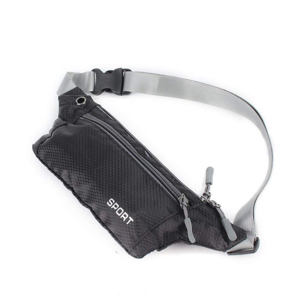 Correa ajustable sintéticas nuevas bolsillo unisex del bolso de la honda corrientes de los deportes de Seguridad de la cintura del recorrido empaqueta el envío libre del vago