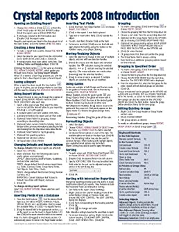 crystal reports 2008 quick reference guide introduction cheat rh amazon com crystal reports 9 technical reference guide Clip Art Reference Guide