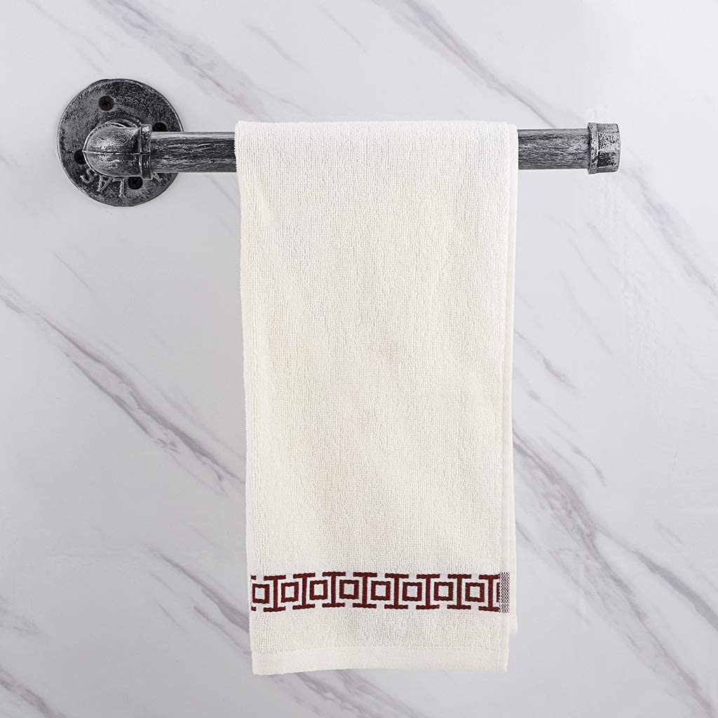 Sumnacon Industrial Iron Pipe Paper Towel Holder Wall Mounted Vintage Style Roll Tissue Holder with Screws Silver Grey Sturdy Rustic Towel Racks for Bathroom Kitchen
