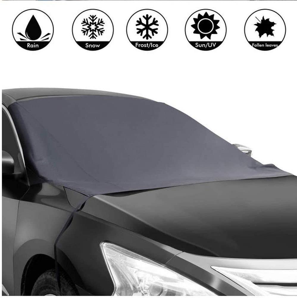 Blue Car Auto Magnet Windshield Cover Sun Snow Ice Wind Frost Freeze Protect !