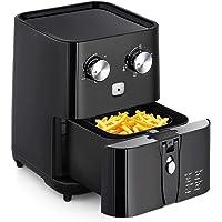Amzdeal Friteuse sans Huile - avec Minuteur Digital et Thermostat Ajustable, Friteuse Électrique avec Filtre Amovible pour Frites, Fruits de mer et Desserts etc