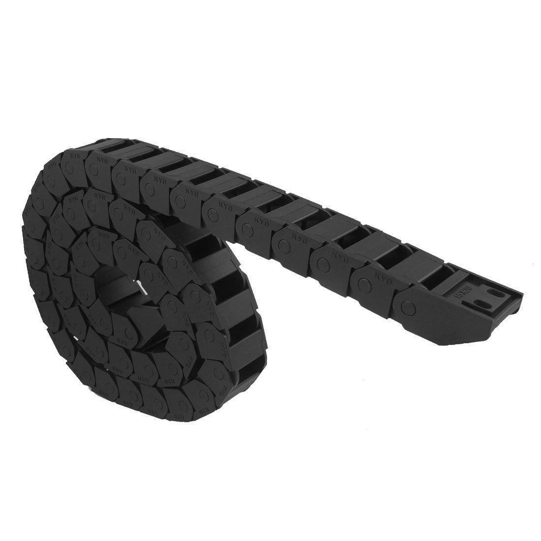Cadena de arrastre - TOOGOO(R)Cable de remolque Cadena de arrastre de plastico de maquinas herramientas Negro 15 x 20 mm SPHAGT48734