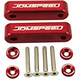 """JDMSPEED Anodized Red JDMSPEED Hood Spacer Hood Riser 3/4"""" for Honda Civic CRX Del Sol Acura Integra"""