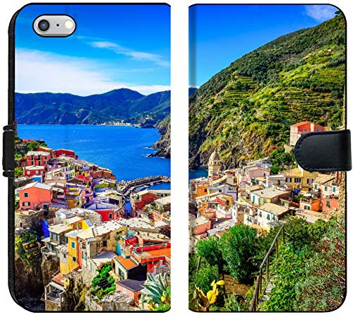 Luxlady Inc. Luxlady iPhone 6 and iPhone 6S Flip Fabric Wallet Case Image ID: 22816014 Scenic View of Colorful Village Vernazza and Ocean Coast in Cinque Terre price tips cheap