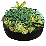 pannow Fabric Raised Planting Bed, Breathable Garden Grow Bag Planting Container Herb Flower Vegetable Plants Bed Round Planter - Dia 50'' x 12''