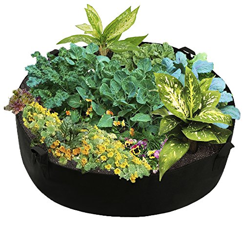 "Mokylor 100-Gallon Extra Large Raised Bed, Round Grow Bag Diameter 50"" Height 12'' Made Of Growth Friendly Felt by Mokylor"