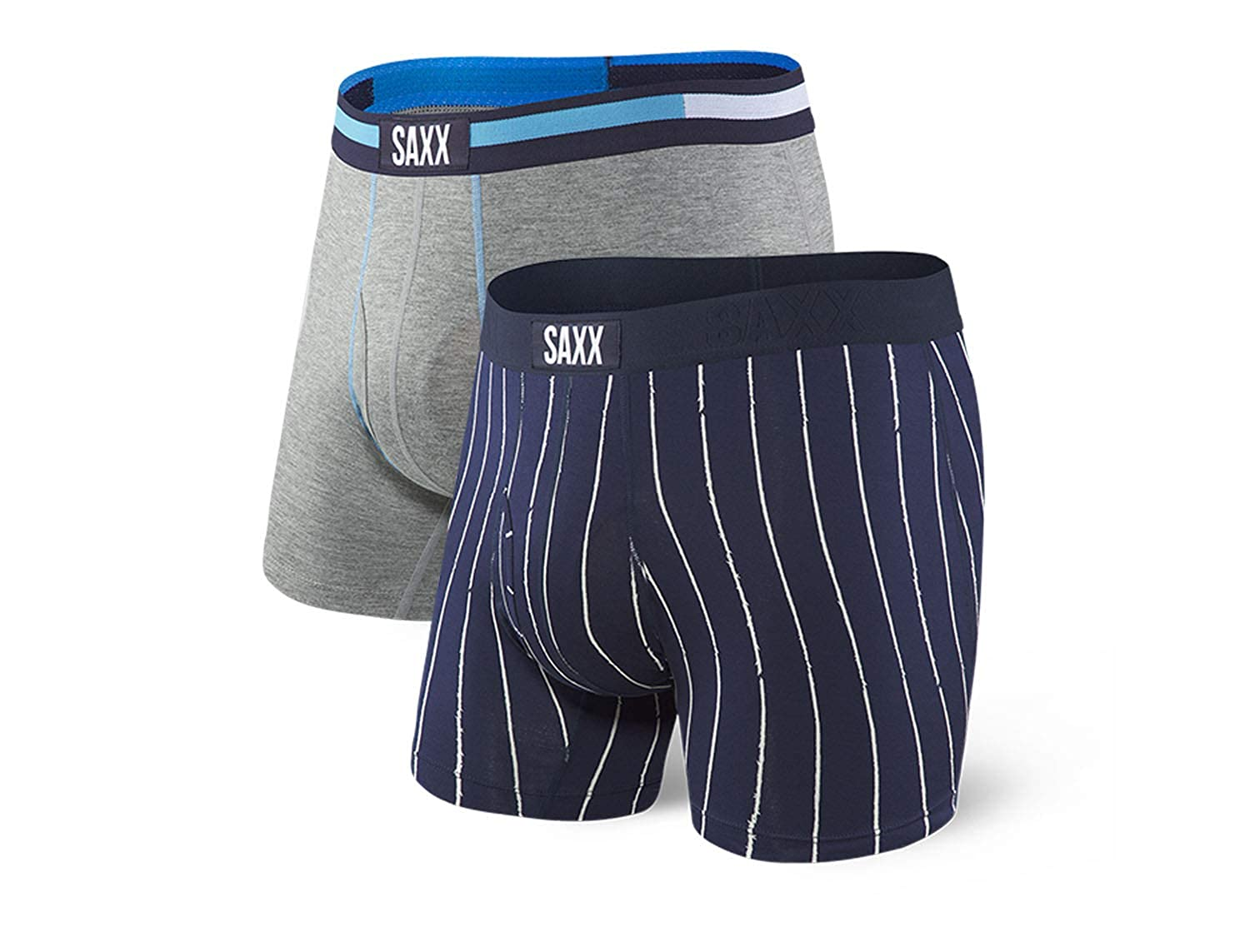 Pack of 2 Saxx Underwear Mens Boxer Briefs Ultra Boxer Briefs with Built-in Ballpark Pouch Support