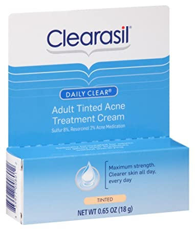 Clearasil Adult Tinted Treatment Cream 0.65 oz (Pack of 3) Dermelect Microdermabrasion 2-3 Facial Reveal 2.5 Ounce