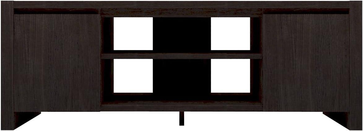 Furniture 247 - Mueble para la televisión contemporáneo con 2 alacenas - roble negro: Amazon.es: Hogar