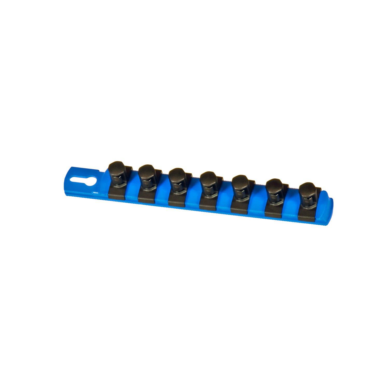 Black Ernst Manufacturing 8-Inch Socket Organizer with 9 1//4-Inch Twist Lock Clips