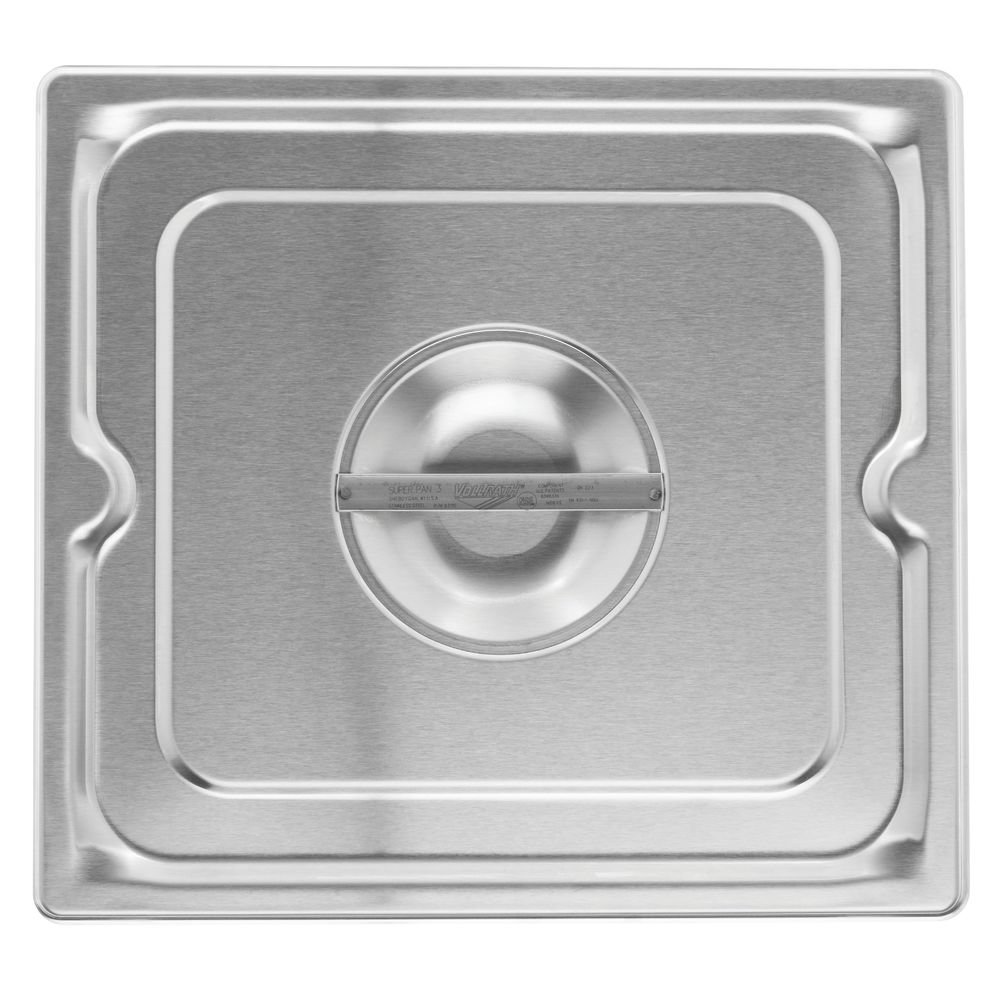 Vollrath Super Pan 3 2/3 Size Stainless Steel Solid Steam Table Pan Cover