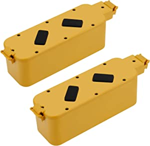 Creabest 2Packs 400 Battery Replacement for iRobot Roomba 14.4V Battery 4800mAh Ni-MH 400 Series 400 405 410 415 416 418 4000 4100 4105 4110 4130 4150 4170 4188 4210 4220 4225 4230 4232 4260 4296