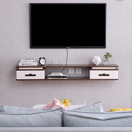 XINGPING-Shelf WiFi Estante del enrutador Estante Flotante Consolas de Montaje en Pared Gabinete para TV Caja de Estante para televisor Estante para gabinete para Sala de Estar: Amazon.es: Hogar