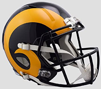 Image Unavailable. Image not available for. Color  Los Angeles Rams Retro  1981-99 Color Rush Riddell Speed Replica Full Size Football Helmet 48aa084c8