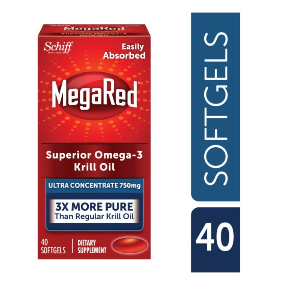 MegaRed Ultra Concentration Omega Krill Oil 750mg, 40 ct (Pack of 10) by Schiff (Image #2)