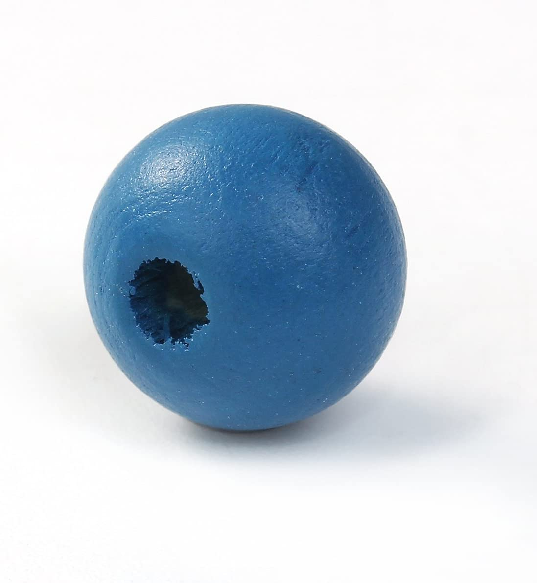siaura material 200Unidades cipreses cuentas de madera 10mm con 3mm, redondo, malaquita Azul para manualidades y fädeln