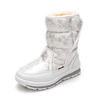 DorkasDE Damen Schneestiefel Kinder Mädchen Winterstiefel Winter Schuhe mit Warmfutter Mutter Tochter Schneestiefel 0wR9QHLOK