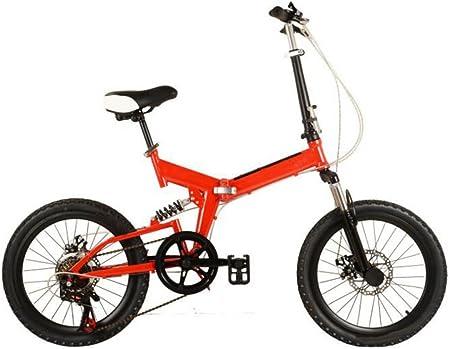 GHGJU Bicicleta plegable de la bici adulta Ch Ren aluminio de bicicletas Highend bicicleta plegable mini bicicleta Estudiante para Unisex-niños 20in Rojo rojo: Amazon.es: Hogar