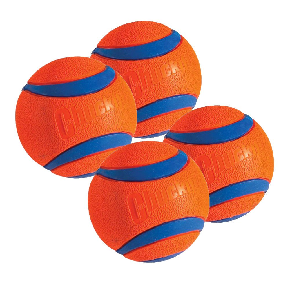 Chuckit  Dog Fetch Toy ULTRA BALL Durable Rubber Fits Launcher LARGE 4 PACK