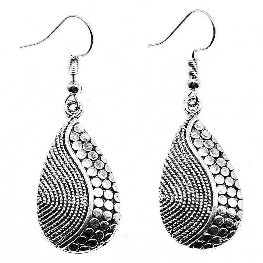 WYSIWYG 3 Pairs Drop Earrings Earrings for Girls Waterdrop 31x16mm with Earring Backs Stopper