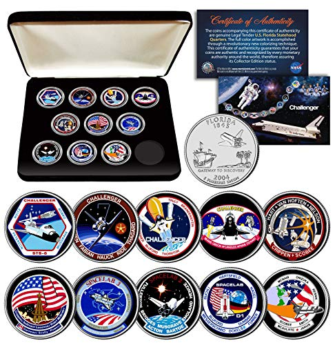 SPACE SHUTTLE CHALLENGER MISSION NASA Florida Statehood Quarters 10-Coin Set Box