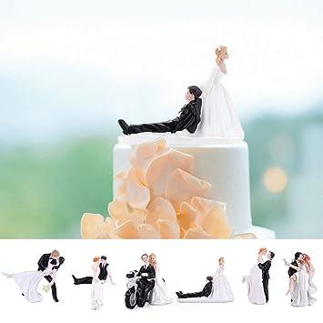 Modernes Brautpaar Hochzeit Tortendeko Tortenaufsatz 2
