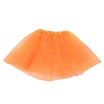 Naliovker Vestido de Ballet Moderno de Hadas de Falda Naranja ...