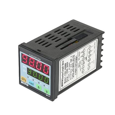 Topker Mypin multiuso preestablecido 4 Contador Digital Inteligente 90-265V AC / DC Longitud contador