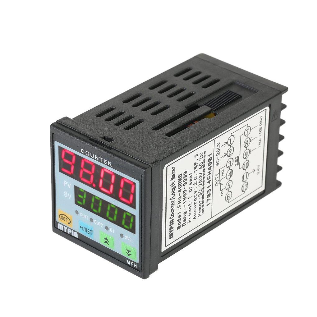 Minzhi MYPIN Multi-purpose Preset 4 Digital Counter Intelligent 90-265V AC/DC Length Counter Length Meter Machine Relay Output PNP NPN