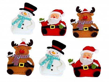 Amazonde 6 Filzfiguren Weihnachten Elch Schneemann