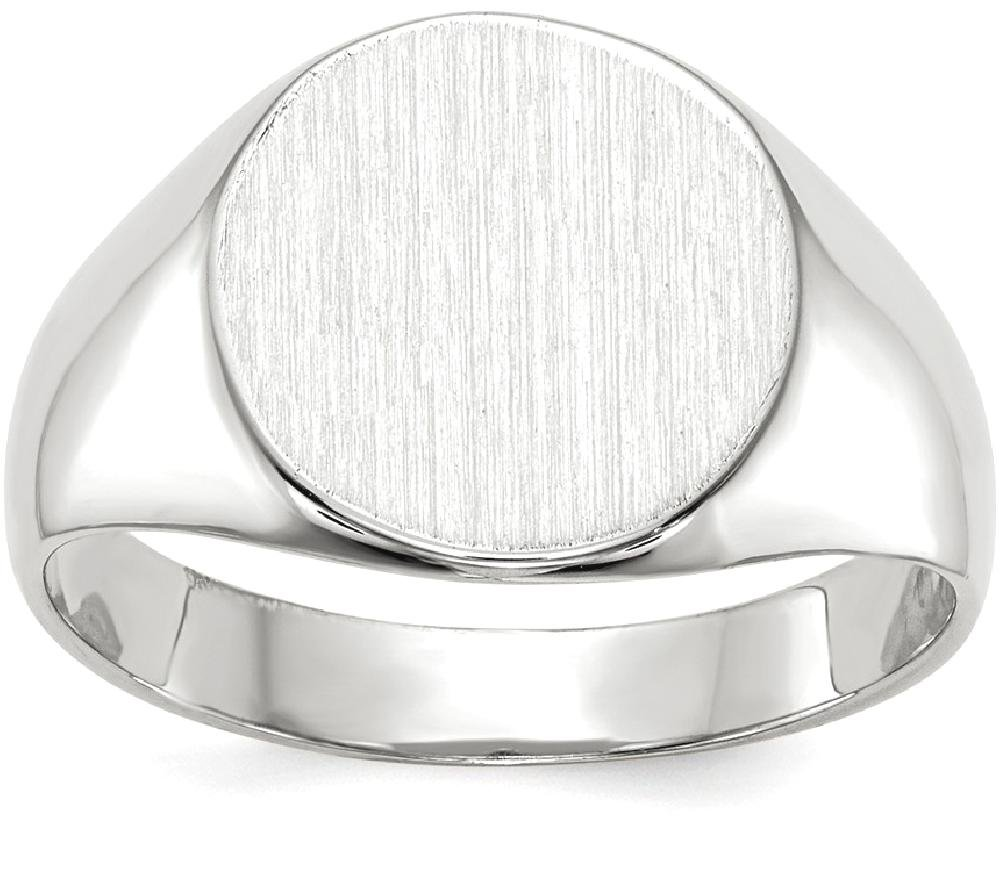 ICE CARATS 14k White Gold Signet Band Ring Size 6.00 Fine Jewelry Gift Set For Women Heart