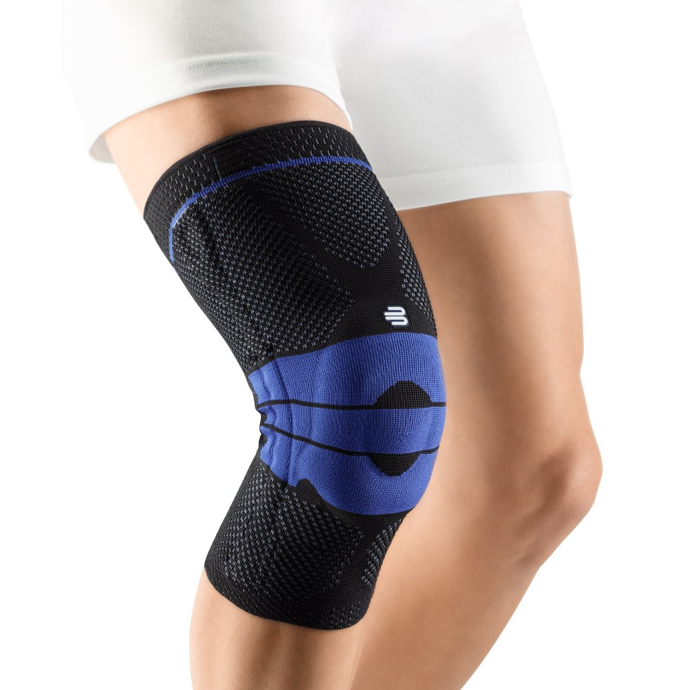 Bauerfeind GenuTrain Knee Support - breathable knit compression knee brace to relieve pain and swelling from arthritis, ACL injury, Miniscus tear, machine washable knee sleeve (Black, 6)